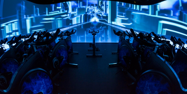 David Lloyd's Immersive Fitness studio
